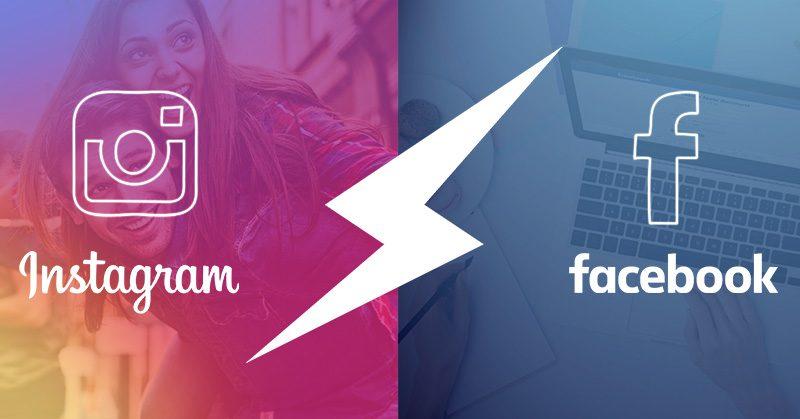 instagram vs facebook propagácia